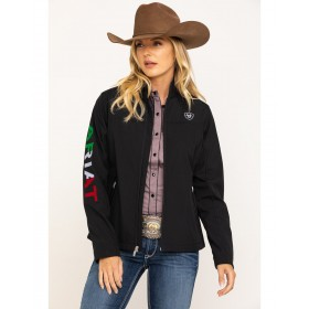 Ariat Women's Classic Team Mexico Flag Softshell Jacket For Work - Women's Jackets  Sale XEYAT1856
