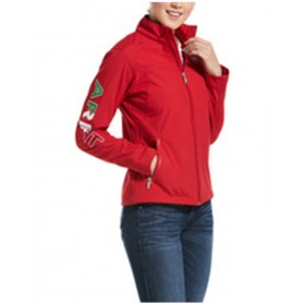 Ariat Women's Red Mexico Softshell Zip-Up Jacket Lightweight - Women's Jackets  For Sale XE7YQ639
