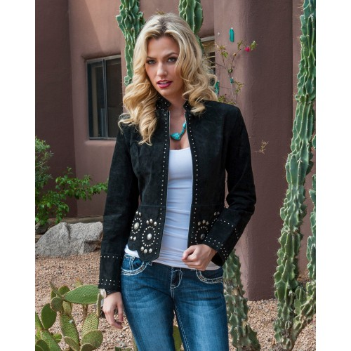 Scully Women's Stud and Concho Suede Jacket - Women's Jackets ZKKOB7857