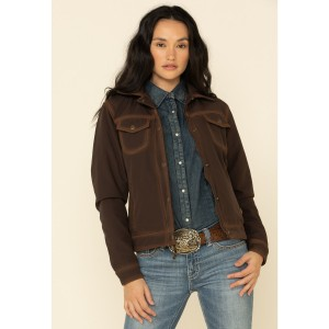 STS Ranchwear Women's Brown Brumby Softshell Jacket For Work - Women's Jackets  SXVTY9862