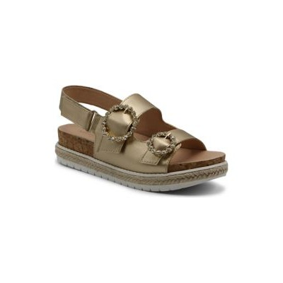Adrienne Vittadini Jeweled Footbed Sandals GOLDEN-DM In Wide Width - Women's Flats QMTH293