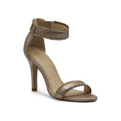 Adrienne Vittadini Strappy Jeweled Sandals CHAMPAGNE-SM - Women's Flats on sale online CIMO196
