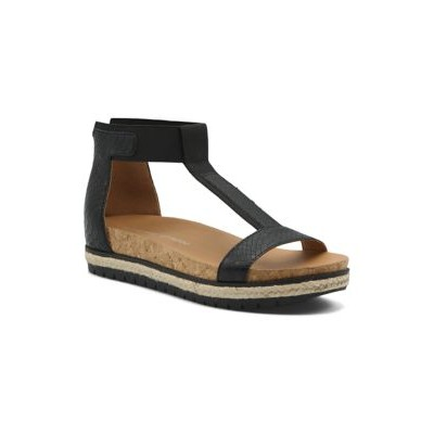 Adrienne Vittadini T-Strap Footbed Shoes BLACK-MS - Women's Flats Fitted KCWB868