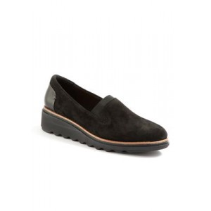 Clarks Sharon Dolly Loafers Black Everyday - Women's Flats Clearance EYFQ557