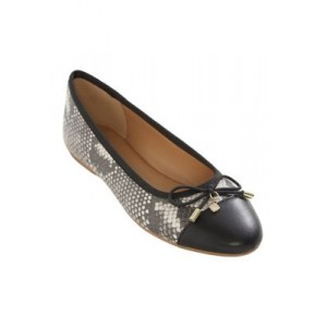 Crown & Ivy™ Whitley Flats BLACK SNK Everyday - Women's Flats Fit GLPF264