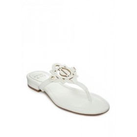 Crown & Ivy™ Wylie Thong Sandals WHITE Big Size - Women's Flats lifestyle RZIJ460