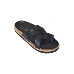 Free People Ventura Footbed Sandals BLACK Size 11 - Women's Flats SIPS403