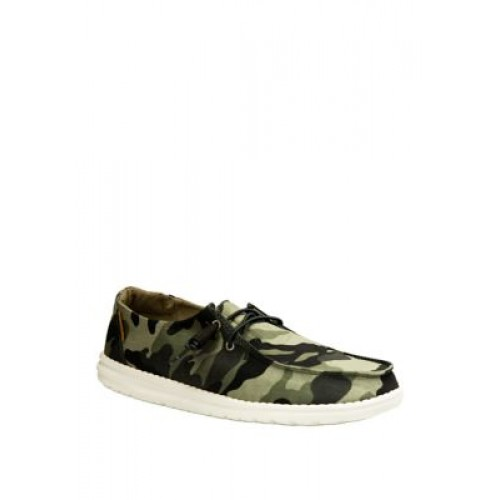 HEY DUDE Wendy Loafers Camouflage - Women's Flats XGTM837