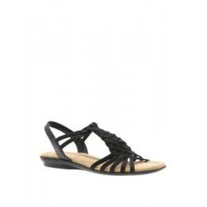 Impo Brinley Stretch Sandals BLACK Large Size - Women's Flats most comfortable XXET644
