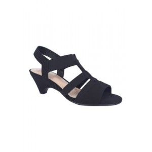 Impo Eshay Stretch Sandals with Memory Foam Black Comfortable Walking - Women's Flats Boutique YYPC291