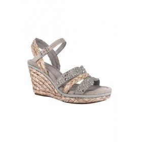 Impo Ossie Platform Wedge Sandals with Memory Foam Simply Taupe Extra Wide Width - Women's Flats MPQO490