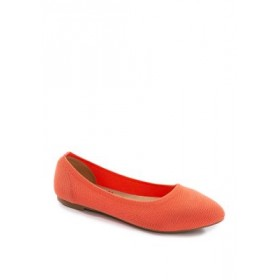 Jellypop Champs Pointed Knit Flats Coral - Women's Flats Best XUQS339