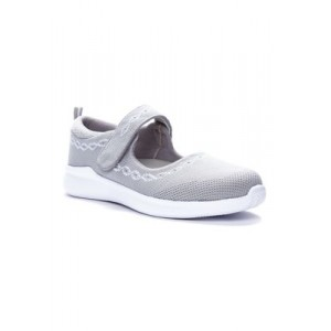 Propét TravelBound Mary Jane Shoes Lt Grey - Women's Flats New Style QYEO813