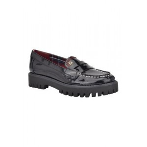 Tommy Hilfiger Rimini Lug Sole Moc Loafers DBLLL Comfortable - Women's Flats Fitted MSJF796