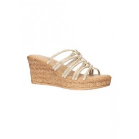 TUSCANY by easy street® Luciana Tuscany Italian Wedge Sandals NATURAL SN Big Size - Women's Flats Online Wholesale HCEN336