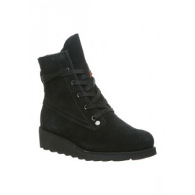 Bearpaw Krista Lace Up Suede Boots Black Size 3 - Women's Boots The Most Popular IXCJ598