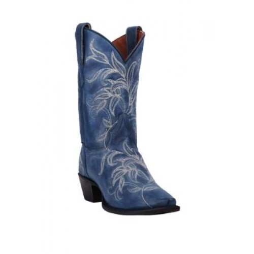 DAN POST® Nora Leather Boots Blue Size 12 Wide - Women's Boots Boutique MUCW963