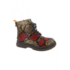 Jellypop Scotland Combat Boots RED SN - Women's Boots LWDH403