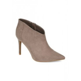 Journee Collection Demmi Booties Taupe - Women's Boots Cheap FVAR292