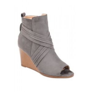 Journee Collection Sabeena Booties Gray - Women's Boots lifestyle ZTIV553