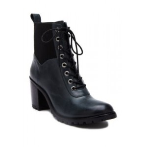 Matisse Moss Lace Up Boots Black Leather Work - Women's Boots Collection TJUG576