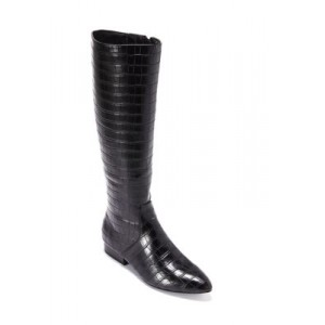 New Directions® Jasey Boots BLACK CROC Expensive - Women's Boots Trends 2021 SXKA153