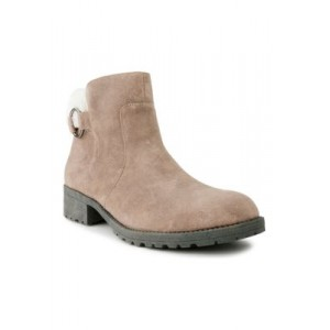 Sugar Crossing 2 Booties T-TAUPE FAB/SHEARLIN Extra Wide - Women's Boots DXOL980
