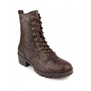 TRUE CRAFT Raylee Hiker Boots BROWN TEXT FABRIC - Women's Boots Or Sale Near Me DFZO379