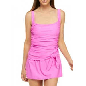 INTO THE BLEU by Amrex Bloom in Love Skirted One Piece Swimsuit Pink Hawaii - Women's Swimwear 2021 Trends VVUC945