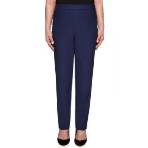 Alfred Dunner Allure Stretch Pull On Average Pants Navy Office - Women's Pants UWQK410