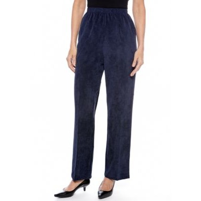 Alfred Dunner Classic Corduroy Pant Navy - Women's Pants outfits KRNR884