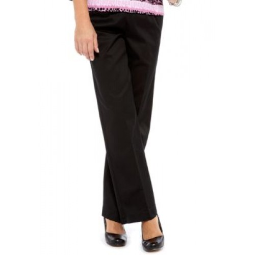 Alfred Dunner Classics Twill Pant Black - Women's Pants OXRW245
