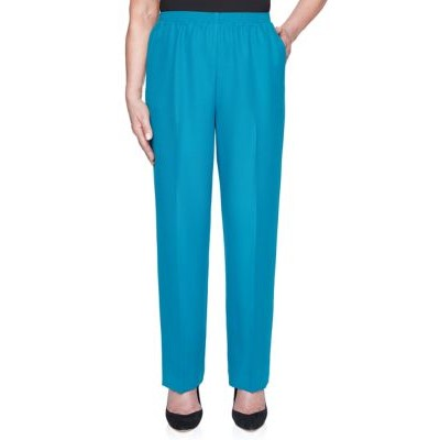 Alfred Dunner Women's Classics Proportioned Short Pants Jade Casual - Women's Pants cool designs MFOD637