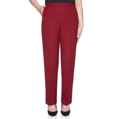 Alfred Dunner Women's Madison Avenue Proportion Medium Pants- Average Merlot Casual - Women's Pants Lowest Price RSFU920
