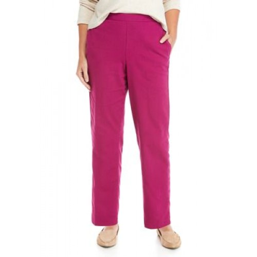 Alfred Dunner Women's Panama City Proportioned Short Pants Raspberry Casual - Women's Pants boutique JPQH862