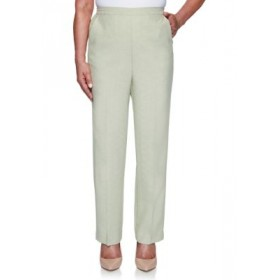 Alfred Dunner Women's Springtime in Paris Proportioned Medium Pants Sage Casual - Women's Pants in style JSTI314