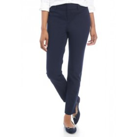 Crown & Ivy™ Cary Bi Stretch Fly Front Pants - Short Novel Navy - Women's Pants Clearance Sale NTYD463