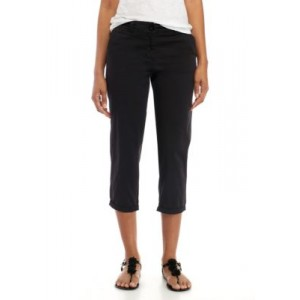 Crown & Ivy™ Women's Charlotte Relaxed Roll Chinos Black Office - Women's Pants XMTA151