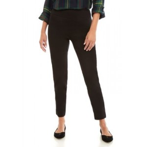 Crown & Ivy™ Women's Pull On Tech Stretch Solid Pants True Black - Women's Pants boutique RVAI486