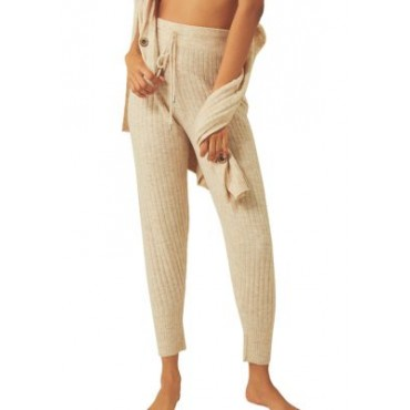 Free People Around the Clock Pants Oatmeal - Women's Pants Recommendations CQOK847