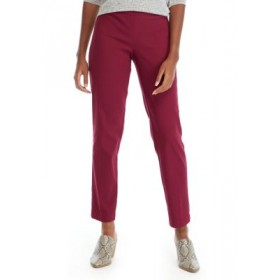 New Directions® Millennium Average Length Jacquard Pants Red Maple Office - Women's Pants business casual ZXTV984