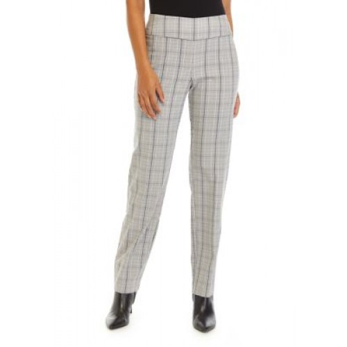 New Directions® Women's Plaid with Gold Lure Pants Black/White/Gold Office - Women's Pants New FPQN258