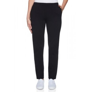 Ruby Rd Women's Must Haves I French Terry Pants Black - Women's Pants cool designs ALUY677
