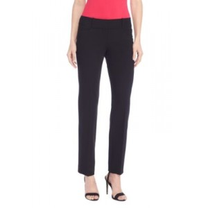 THE LIMITED The New Drew Straight Pants in Modern Stretch - Regular Black Work - Women's Pants on clearance LMLT998