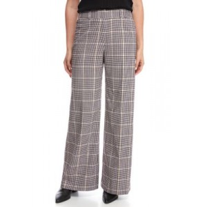 THE LIMITED Women's High Rise Wide Leg Pants Black/White/Gold Office - Women's Pants The Top Selling UWGS779