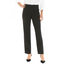 THE LIMITED Women's Lexie Straight Pants in Modern Stretch Black Office - Women's Pants on style BMHN646