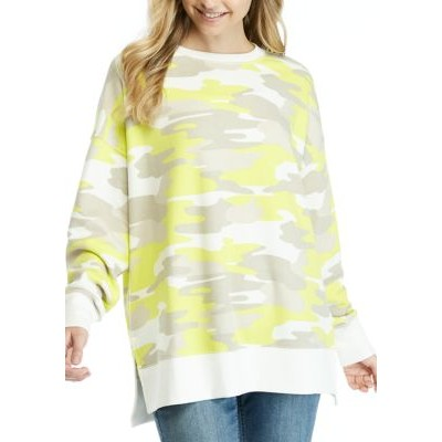 Crown & Ivy™ Long Sleeve Printed Sweeper Top Lime - Women's Loungewear for sale near me IGTH139