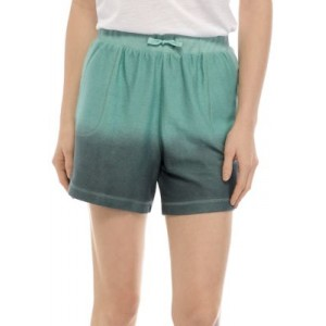 New Directions® Women's Washed Shorts Teal Dip - Women's Loungewear  on style KQDD701