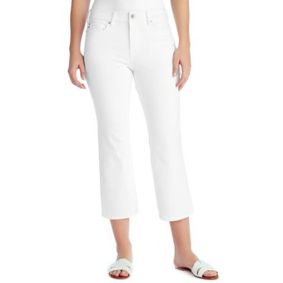 Chaps Mid Rise Crop Kick Jeans in Average Length White Good Quality - Women's Jeans At Target SRQV417