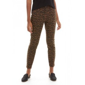 New Directions® Women's Cheetah Print Mid Rise Skinny Ankle Pants Natural Cheetah Size 1 - Women's Jeans Cost VLPP928